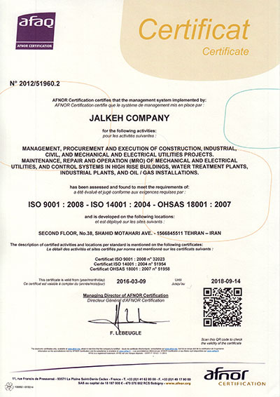 ISO 9001-ISO 14001- OHSAS 18001